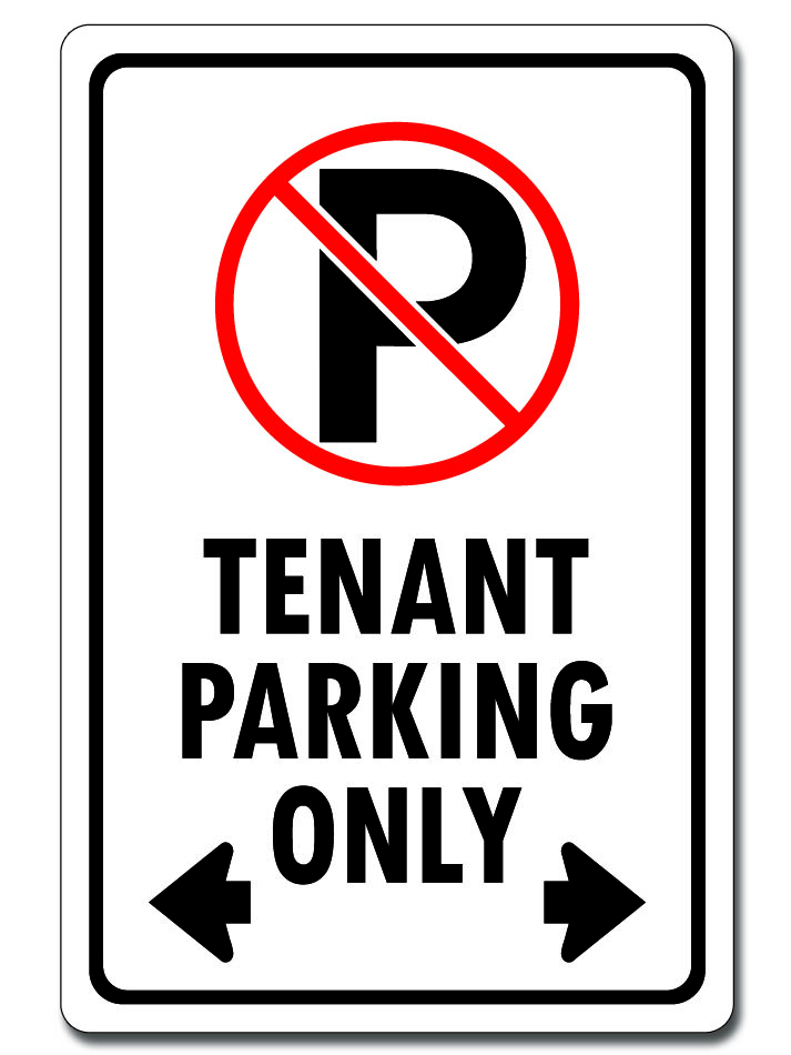 Tenant Parking Only (Double Arrows)