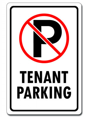 No Parking - Tenant Parking