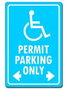 Handicap Permit Parking Only with Arrows