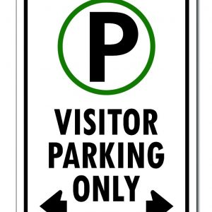 Visitor Parking Only With Arrows