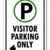 Visitor Parking (Left Arrow Sign)