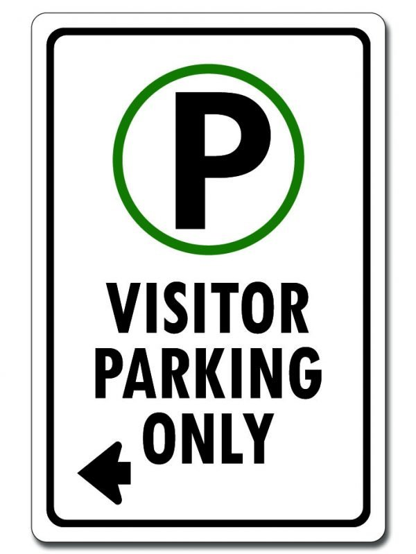 Visitor Parking (Left Arrow Sign)