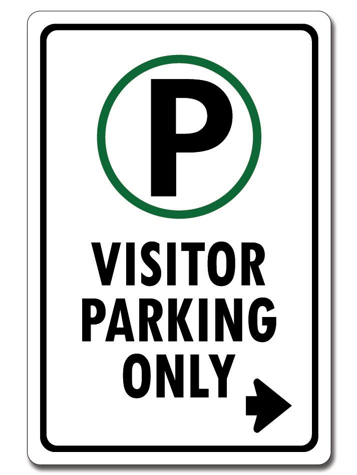 Visitor Parking (Right Arrow Sign)