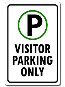 Visitor Parking Only